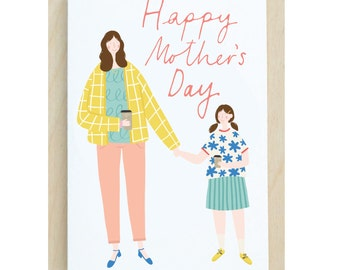 Illustrated Mother's Day Card A6