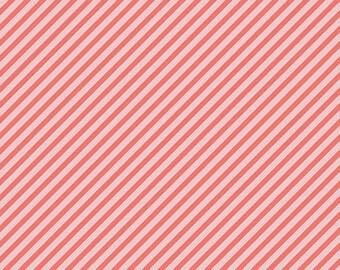 1 Yard Les Petits  by Amy Sinibaldi for Art Gallery Fabrics - Petits Strokes- 810 Coral
