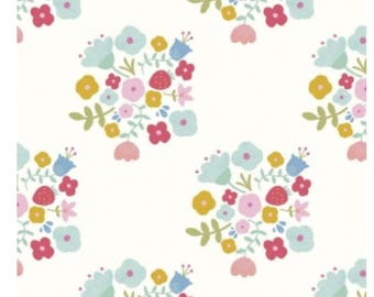 1 Yard Double Gauze by The RBD Design Team for Riley Blake Designs - 5765 Hedgegrow Bouquet Cream