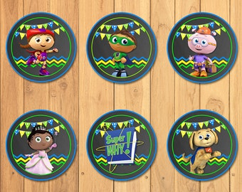 Super Why Cupcake Toppers Chalkboard * Super Why Birthday * Super Why Printables * Super Why Stickers * Super Why Party Favors * Cake Topper