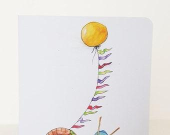 "Greeting Card - ""A Sunny Stroll"""