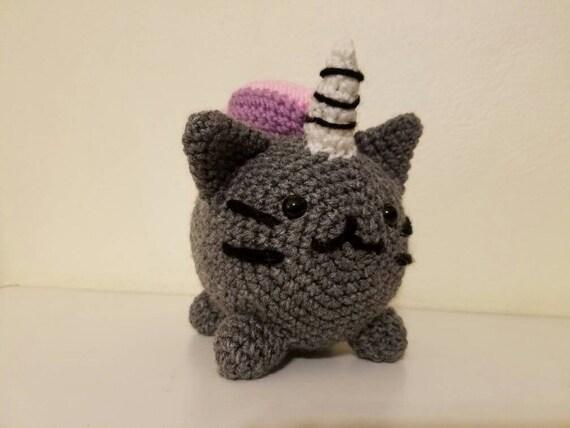 Amigurumi Pusheen Cat : Items similar to Pusheen Unicorn Cat Emoji Crochet ...