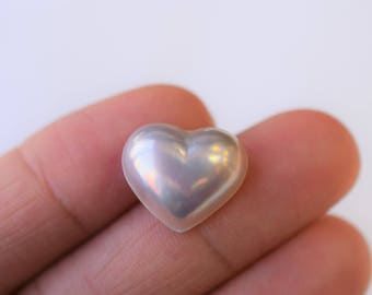 Heart Shaped Mabe Loose Pearl - DIY