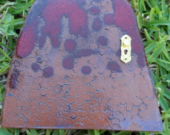 FAIRY DOOR Ceramic Pottery handmade Fairy Garden Outdoors