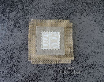 """white square pin """"like a picture"""""""