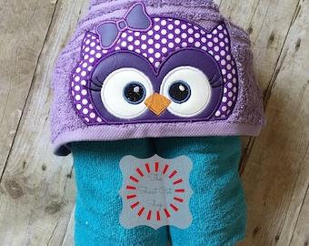Owl Hooded Towel, Girl Owl Hooded Towel, Hoot Owl Hooded Towel, Hooded Towel, Kids Hooded Towel, Bath Towel, Pool Towel, Beach Towel, Gift