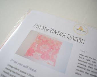 DIY Vintage Cushion Cover - Make Your Own Craft Kit