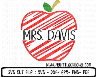teaching shirt - Teacher gift svg - custom apple svg - vinyl cut files -cricut files - SVG DXF EPS png files - teacher appreciation