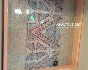 Mosaic, mosaic wall art, marble mosaic, arabesque mosaic, mosaic tray