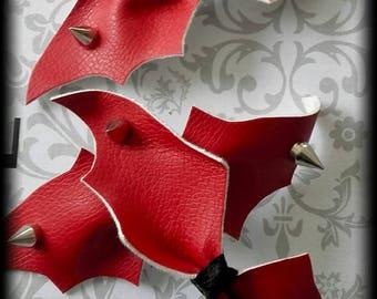 Gothic bat wing hair clip