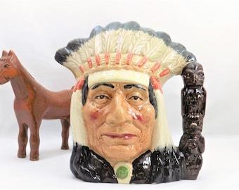 Large North American Indian, Toby Jug, Royal Doulton D 6611, 1966 Doulton and Co Ltd, Toby Mug