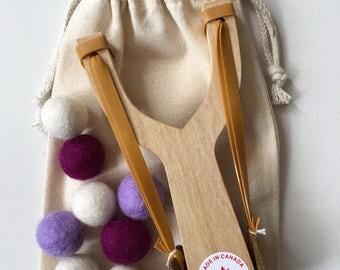 Handmade Wooden Slingshot.  Great Birthday Gift.