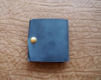 Leather wallet-Handstitched Womens/mens genuine leather wallets-credit card wallet-unique Retro/modern design dermis leather purse gift