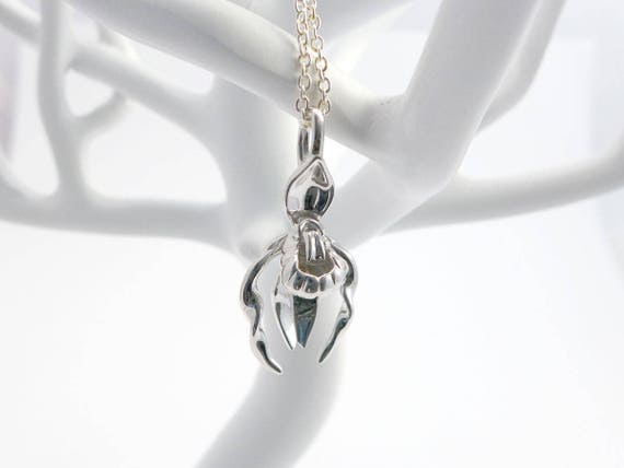 Cypripedium Lady's Slipper Orchid Pendant - Botany- Science Jewelry in bronze, brass & silver