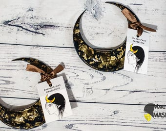 Suicide Squad - Enchantress Headdress 100% replica enchantress costume half moon crest headpiece crown