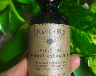 Turkey Tails Dual Extract | Organic + Wildharvested | Immune Tonic