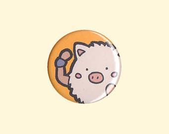 Primeape Badge - kawaii Pokemon, Primeape button, Primeape pin, Pokemon badge, Pokemon button, chibi Primeape, kawaii Primeape