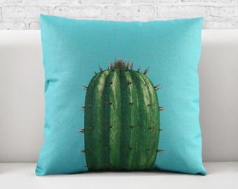 Pillow Cover, Pillow cases, 100% cotton fabric, Decorative Cushion, Throw Pillow, graphic pattern, plant ,cactus ,0503