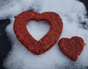 Heart Beet Treats - Organic and Vegan Dog Treats - Healthy and Gluten Free Dog Treats