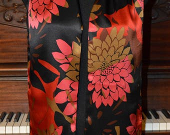 Floral velvet and silk scarf, Talbots floral silk scarf