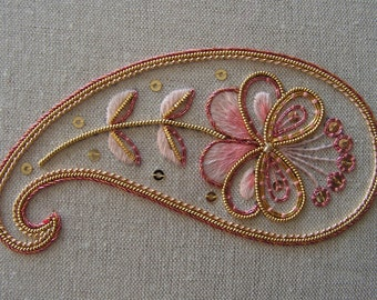 Decorative Goldwork Paisley Embroidery Kit