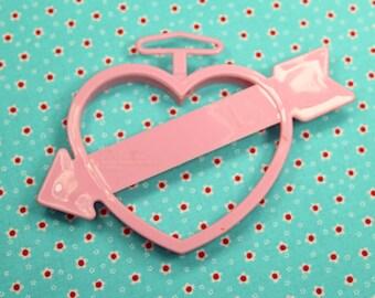 Pink Heart With Arrow Wilton 1993 Valentine Cookie Cutter