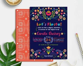 Fiesta Bridal Shower Invitation Printable, Fiesta Bridal Shower Invite, Mexican Bridal Shower Invitation, Fiesta Party Invite