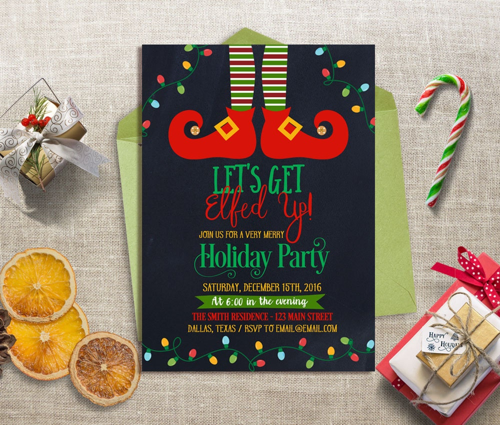 zoom - Funny Christmas Party Invitations