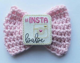 instababe bow, crochet bow,