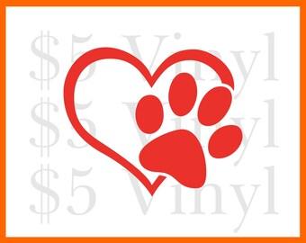 Love my Puppy Kitty Dog Cat Animal Vinyl XS-SMALL Car Decal, Sticker, Window Decal, Pet, Paw Print, Love, Puppy, Dog, Kitty, Kitten, Cat