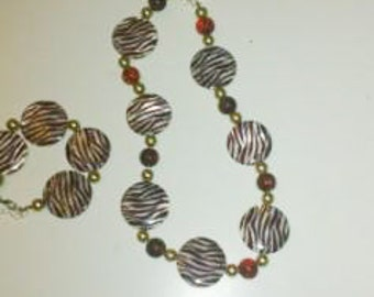 Zebra - jewelry set