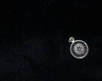 Vintage Sterling LaMode Diamond Pendant