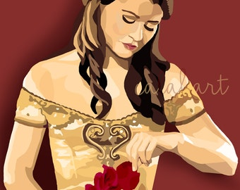 BELLE - Once Upon a Time • OUAT Digital Drawing - 11x14 Poster Print