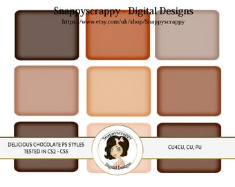CU4CU, Photoshop Styles, PS Styles, Photoshop, Digital PS Styles, Commercial Use, Instant Download,  Chocolate PS Styles