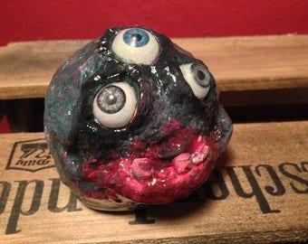 "OOAK horror doll Monster sculpture ""Smurdge"" dream catcher"