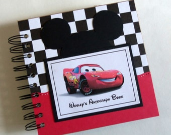 BEST BUY for Boys! PERSONALIZED Disney Autograph Book Scrapbook Travel Journal Vacation Photo Album crs689