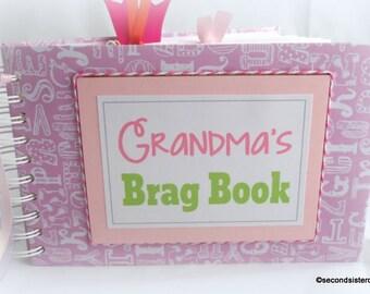 GRANDMA'S BRAG BOOK baby girl scrapbook album New Baby gift new mom gift