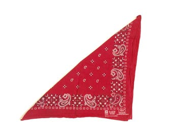 Vintage Red bandana red print bandana graphic bandana red western bandana western red bandana classic cotton bandana western red and white