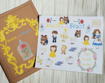 Beauty and beast planner stickers perfect for any planner