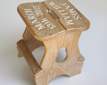 Oak Step Stool Etsy