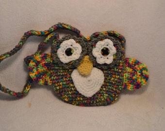 Owl Purse, Gift for Girl, Gift for Toddler, Crocheted, Owl Gift, Christmas Gift