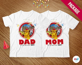 Lion Guard T-Shirts Mom & Dad, Lion Guard Iron On Transfer T-Shirt, Birthday Party Theme Printables, Favors, Lion Guard, INSTANT DOWNLOAD