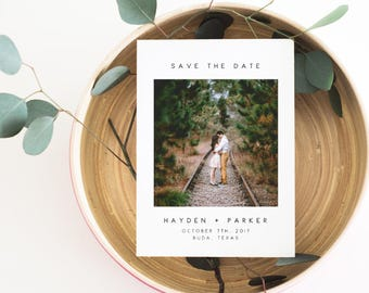 Photo Save the Date, Save the Date Printable, Modern Save the Date, Save the Date Card, Save the Date Printable, Photo Announcement. Engaged