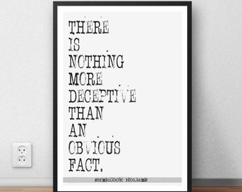Sherlock Holmes Quote Arthur Conan Doyle quote wall art poster GIFT