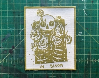 In Bloom Green Canvas Patch