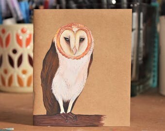 Small notebook, owl.
