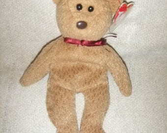 "VintageTy Beanie Bear ""Curly""  Birthday 4/12/1996      #10"