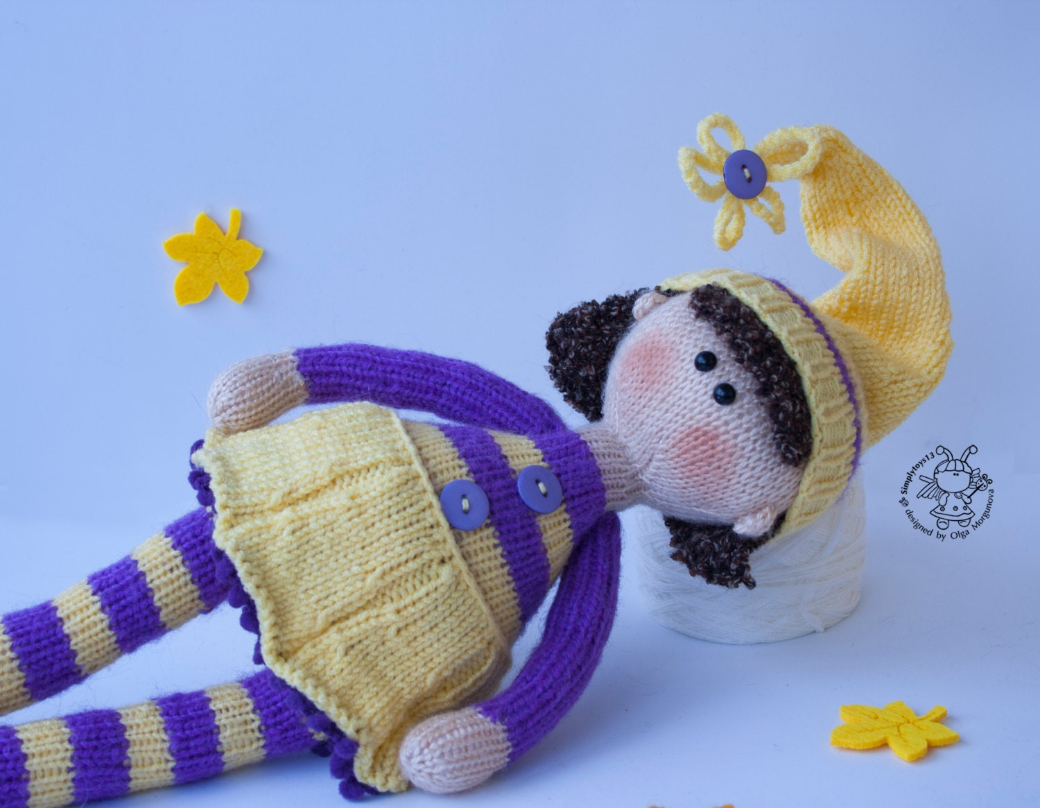Amigurumi Toys For Babies : Toy for sleep. Doll Belle for small babies- knitting ...