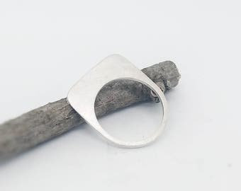 Matte silver ring, silver minimalist ring satin finish, modern ring, contemporary jewelry, mother's day, modern jewelry