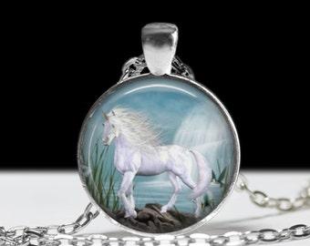 Unicorn Necklace Unicorn Jewelry  Necklace Wearable Art Pendant Charm Photo Pendant